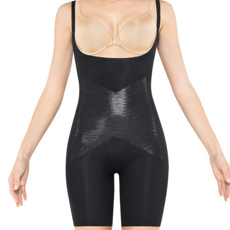 Lady Luxe Open-Bust Mid-Thigh Body