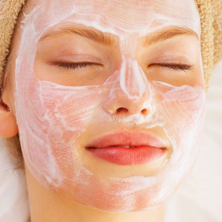 Woman enjoying a face mask
