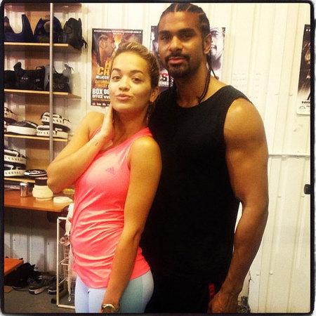Rita Ora and David Hayes boxing