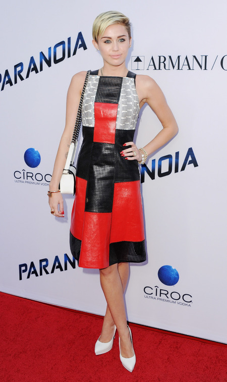 Miley Cyrus is pretty and punk in Proenza Schoulder at Paranoia premiere