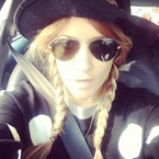 Caroline Flack plaits up for cute summer style