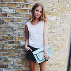 Millie Mackintosh takes on the satchel trend
