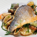 Friday night Bream with Scallops & Clams