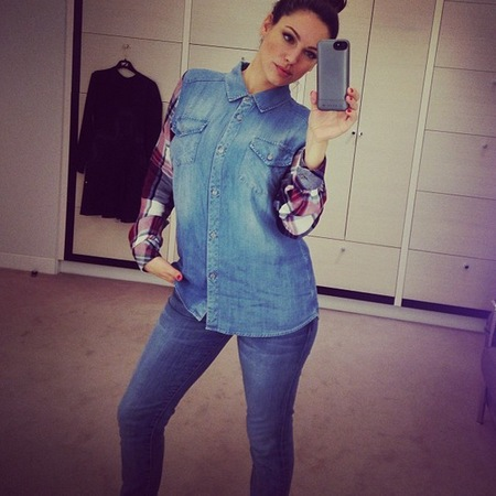 Kelly Brook double denim