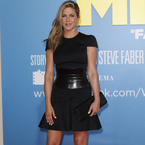 Jennifer Aniston back to black in Alexander McQueen