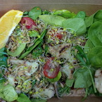 Mackerel and spinach superfood salad recipe