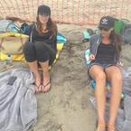 Victoria Beckham's bad beach experience