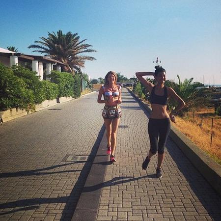 Anna Dello Russo running