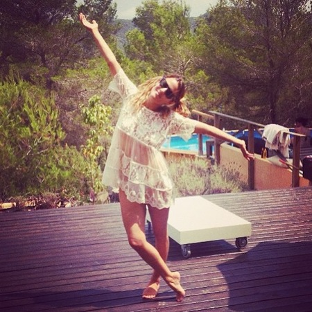 Caroline Flack posts holiday pictures from Ibiza
