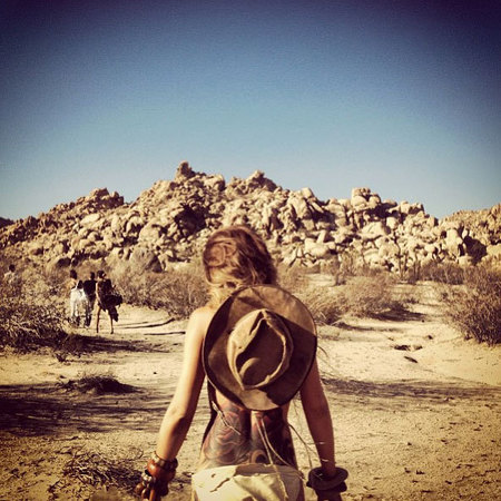 Cheryl Cole desert trek holiday