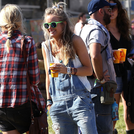 Cressida Bonas at Glastonbury 2013