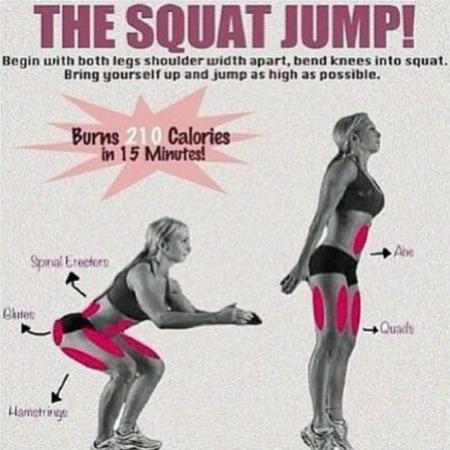 Khloe Kardashian loves the squat jump