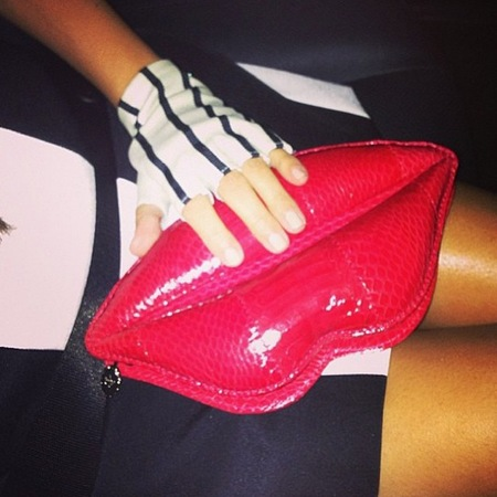 Kourtney Kardashian carries Lulu Guinness lips clutch at Kylie Jenner Sweet 16