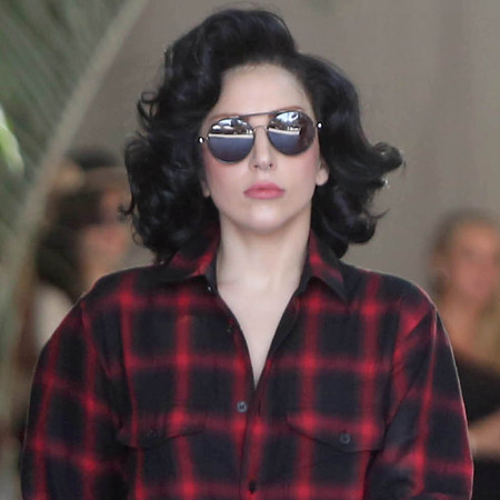 Lady Gaga debuts short curly brown hair following Perez Hilton Twitter ...
