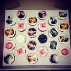 Millie Mackintosh gets stuck in to photo cupcakes at hen party