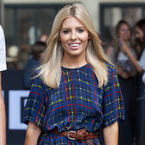 Mollie King works silky Preen Line prints in London