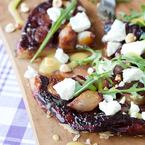 Dinner sorted: Shallot & Port Tatin with Goat's Cheese