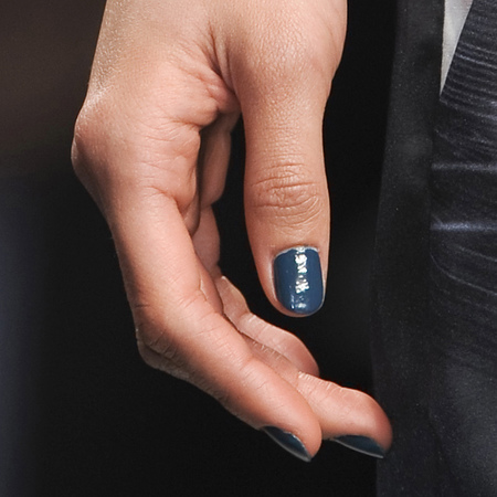 Navy and teal nails at Jean-Pierre Braganza