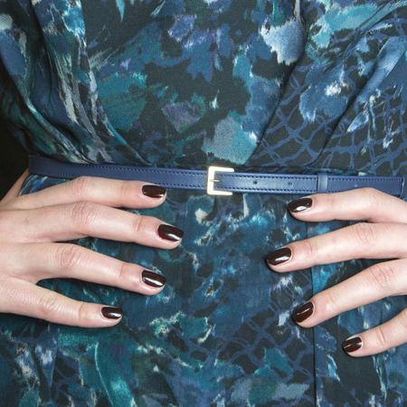 Reddish brown nails at Elie Saab