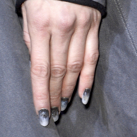 Black and grey nails at Gareth Pugh