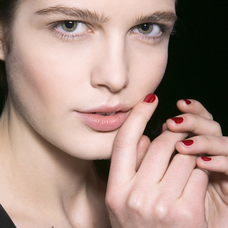 Cherry red nails at Sonia Rykiel