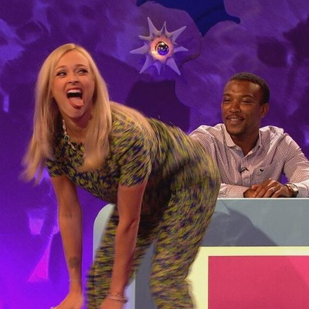 Fearne Cotton twerks in Boutique by Jaeger prints on Celebrity Juice