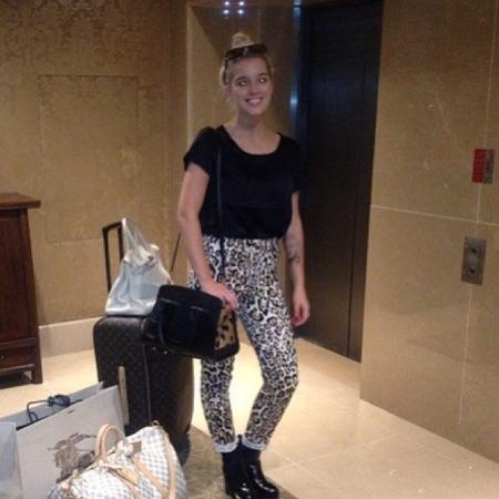 Helen Flanagan's designer travel bags