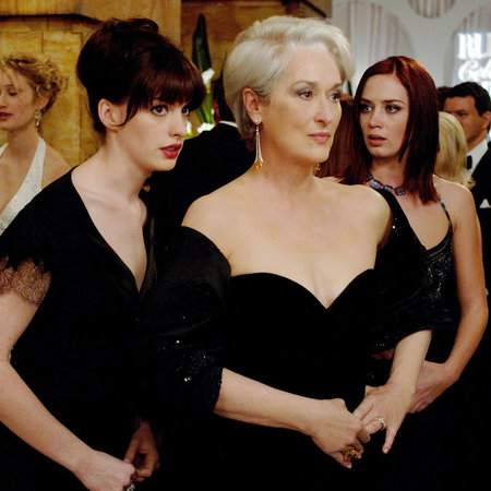 Anne Hathaway and Meryl Streep in The Devil Wears Prada