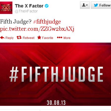 X Factor teaser for 5th Judge