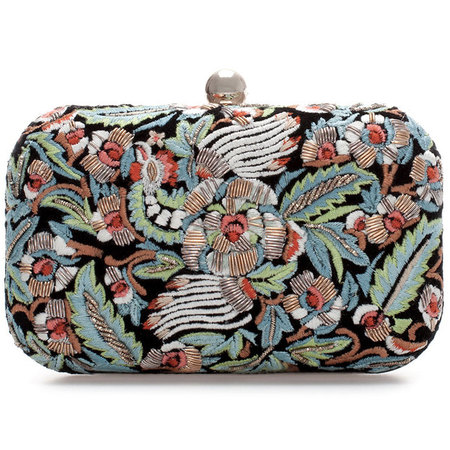 Zara embroidered clutch bag