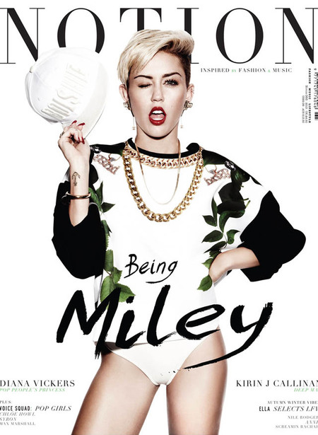 Miley Cyrus covers Notion Magazine