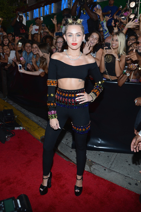 Miley Cyrus in a crop top