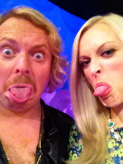 Fearne Cotton's twitter picture on the set of Celebrity Juice