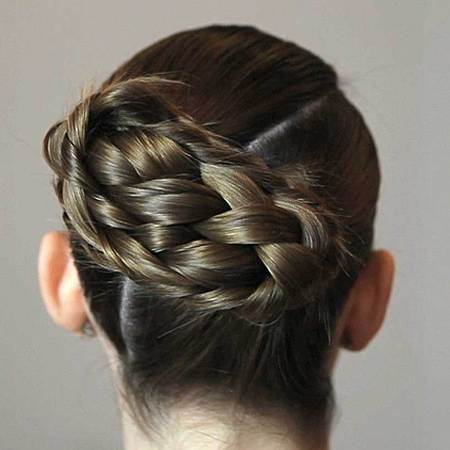 Bridal hair twisted bun