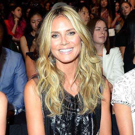Heidi Klum at New York Fashion Week SS14