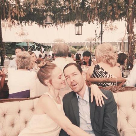 Kate Bosworth attends a wedding with Michael Polish