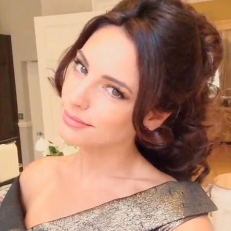 Kelly Brook party hair