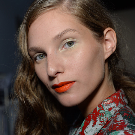FASHION WEEK SS14: NARS does orange satin lips at Creatures Of The Wind