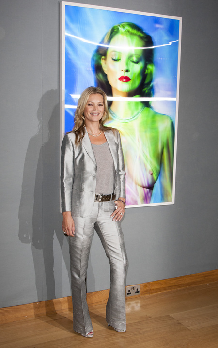 Kate Moss suits up in sci-fi tailoring for Christie's auction