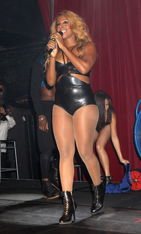 Alexandra Burke performs at G-A-Y in London