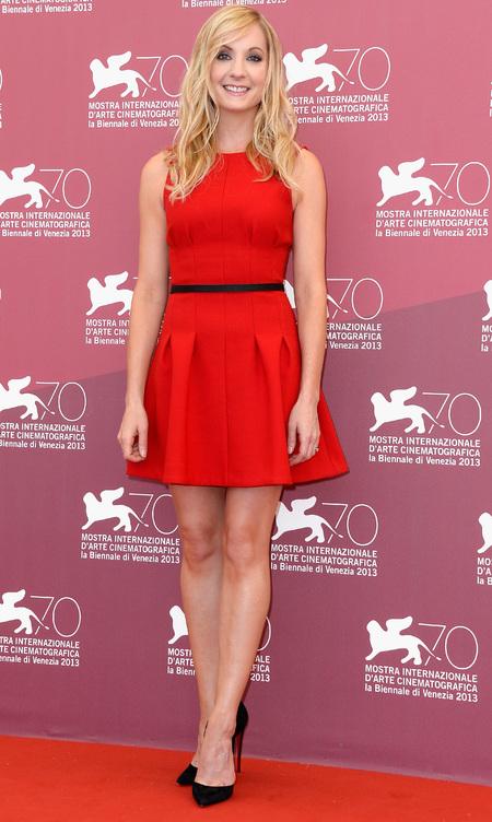 Joanne Frogatt in a mini dress