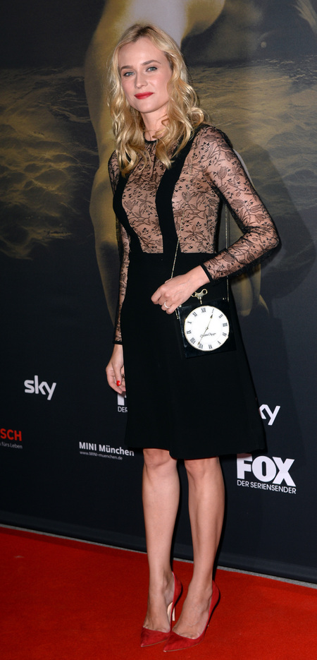 Diane Kruger's Charlotte Olympia Clock clutch