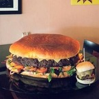 This is Britain's biggest burger weighing 25lb