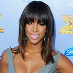 Kelly Rowland works glossy locks for X Factor USA