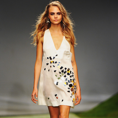 Topshop Unique SS14 London Fashion Week, Cara Delevingne