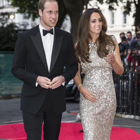 Kate Middleton in Jenny Packham, Prince William, Tusk Convention Awards 2013
