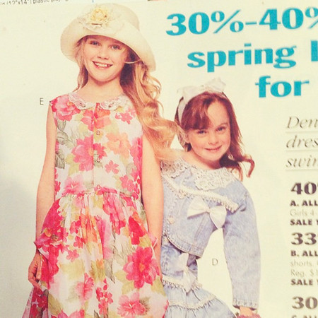 Lindsay Lohan and Kirsten Dunst childhood modelling Instagram