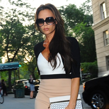 Victoria Beckham pictured in New York after NYFW shows