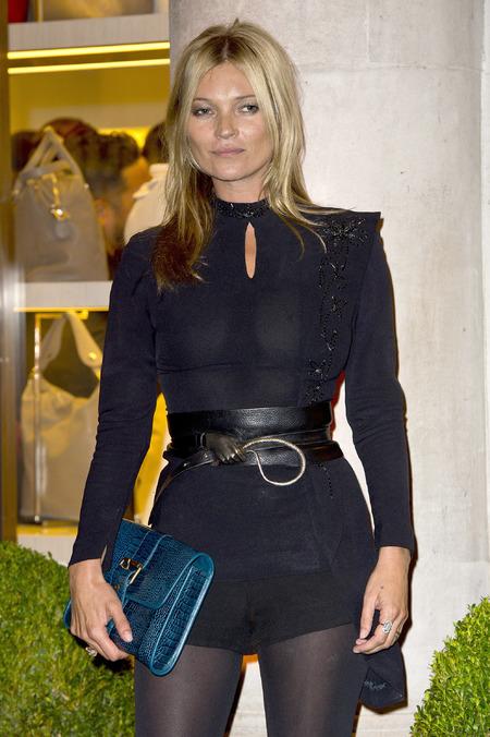 Kate Moss at Longchamp Regent Street opening LFW SS14