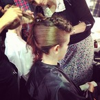 LFW SS14: 70s curls and lilac beauty at Holly Fulton